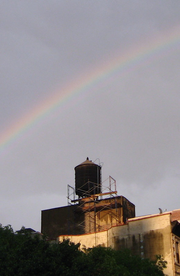 Rainbow over Water Tower
