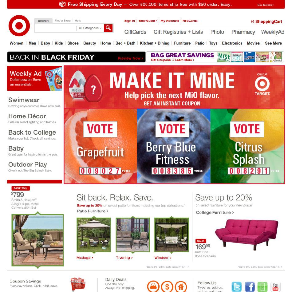 MakeItMine Target Homepage