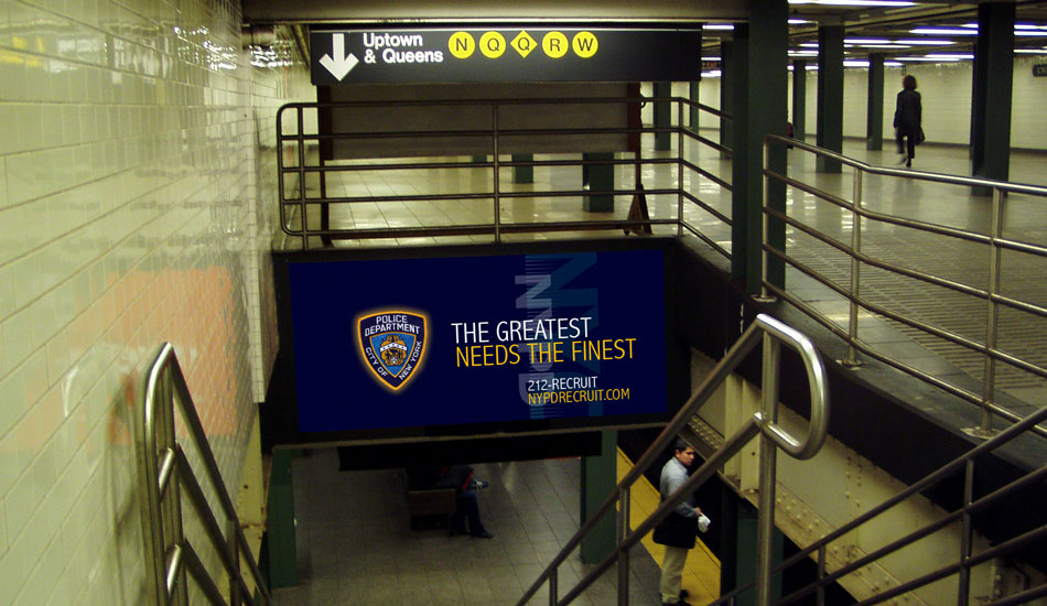 NYPD Subway Stairs