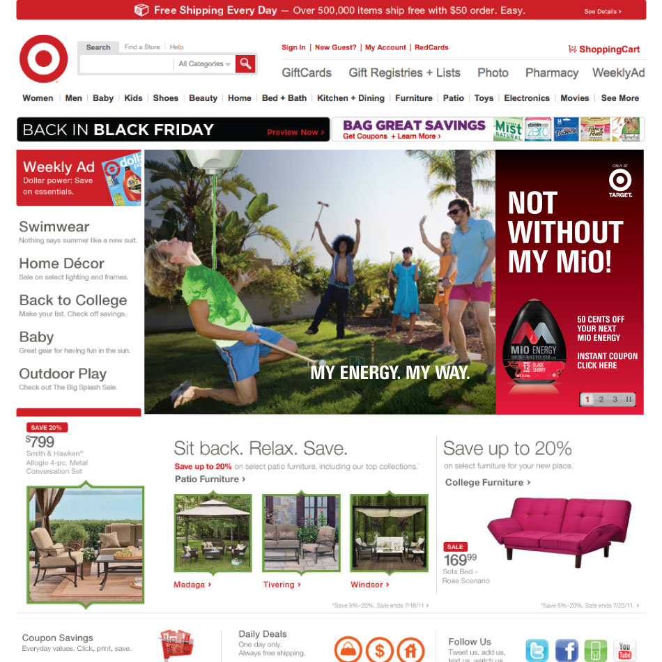 NotWithout Target Homepage