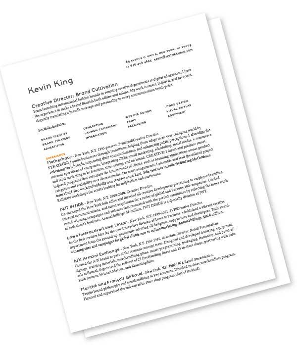 Kevin King Résumé