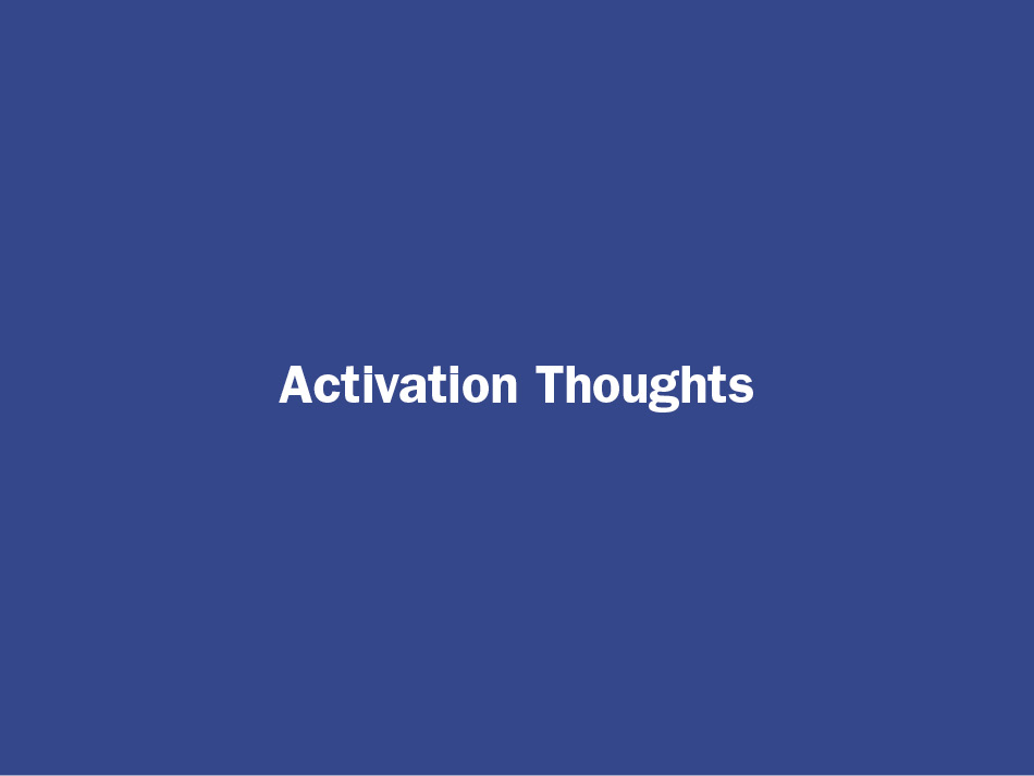 Be Greater Than Good Activation Thoughts