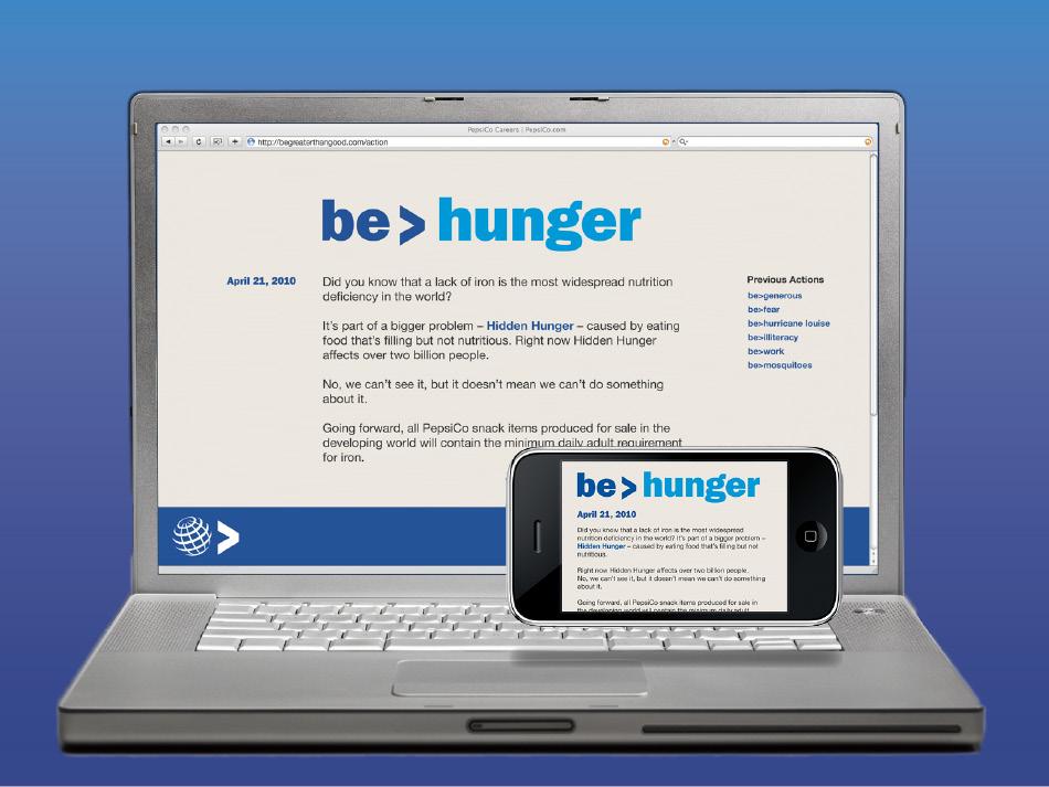 be > hungerbe > hunger