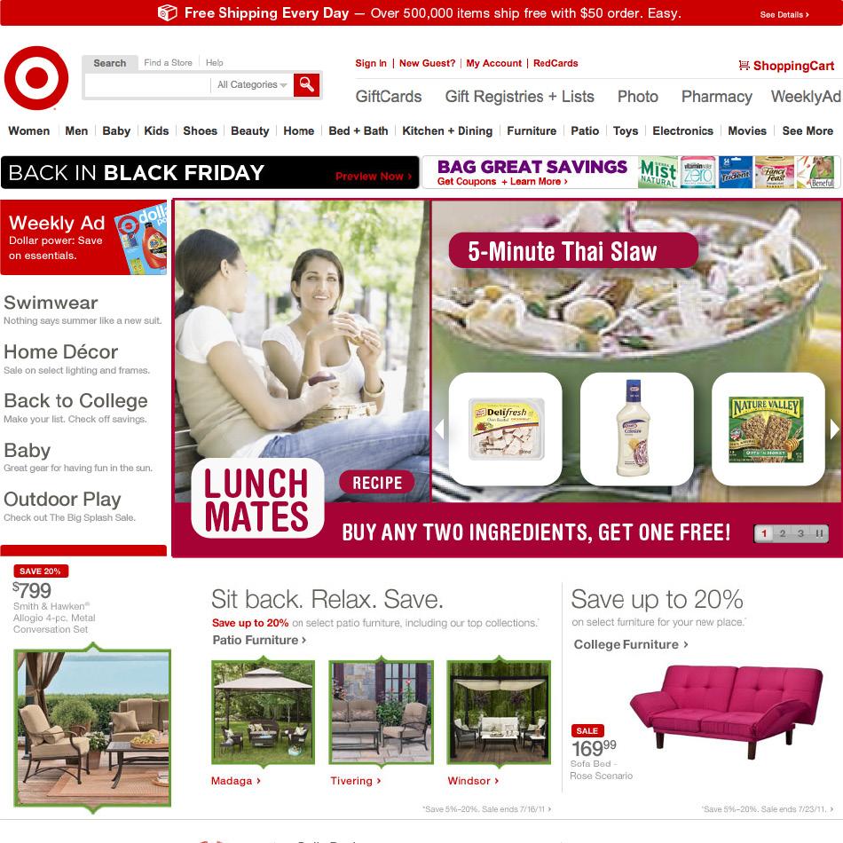 Target.com Homepage