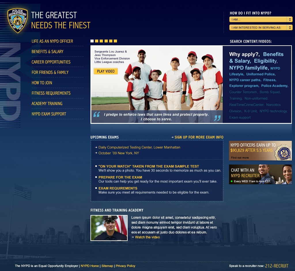 NYPD Homepage 1