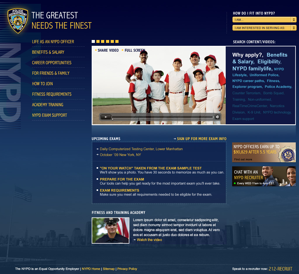 NYPD Homepage 2