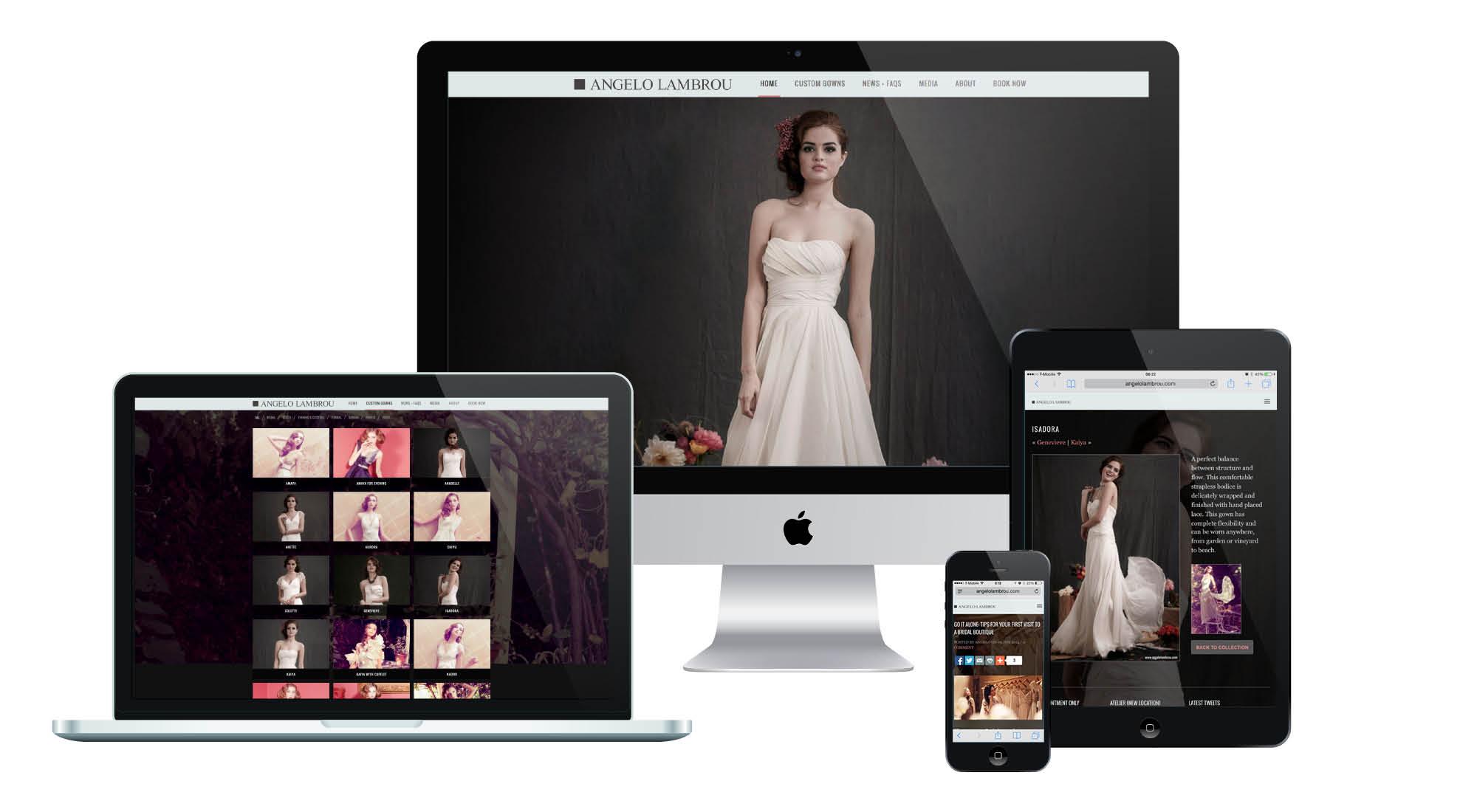 Angelo Lambrou Responsive Website