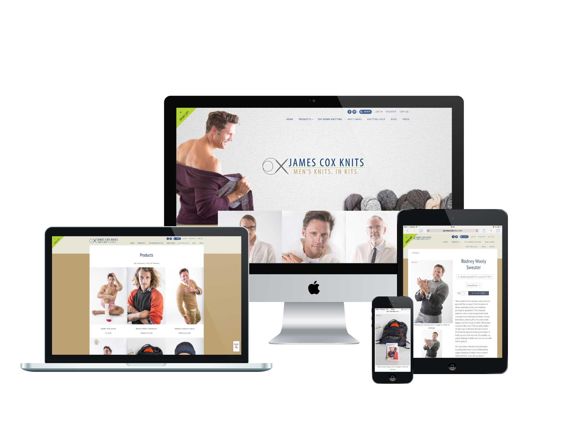 James Cox Knits - E-commerce Site