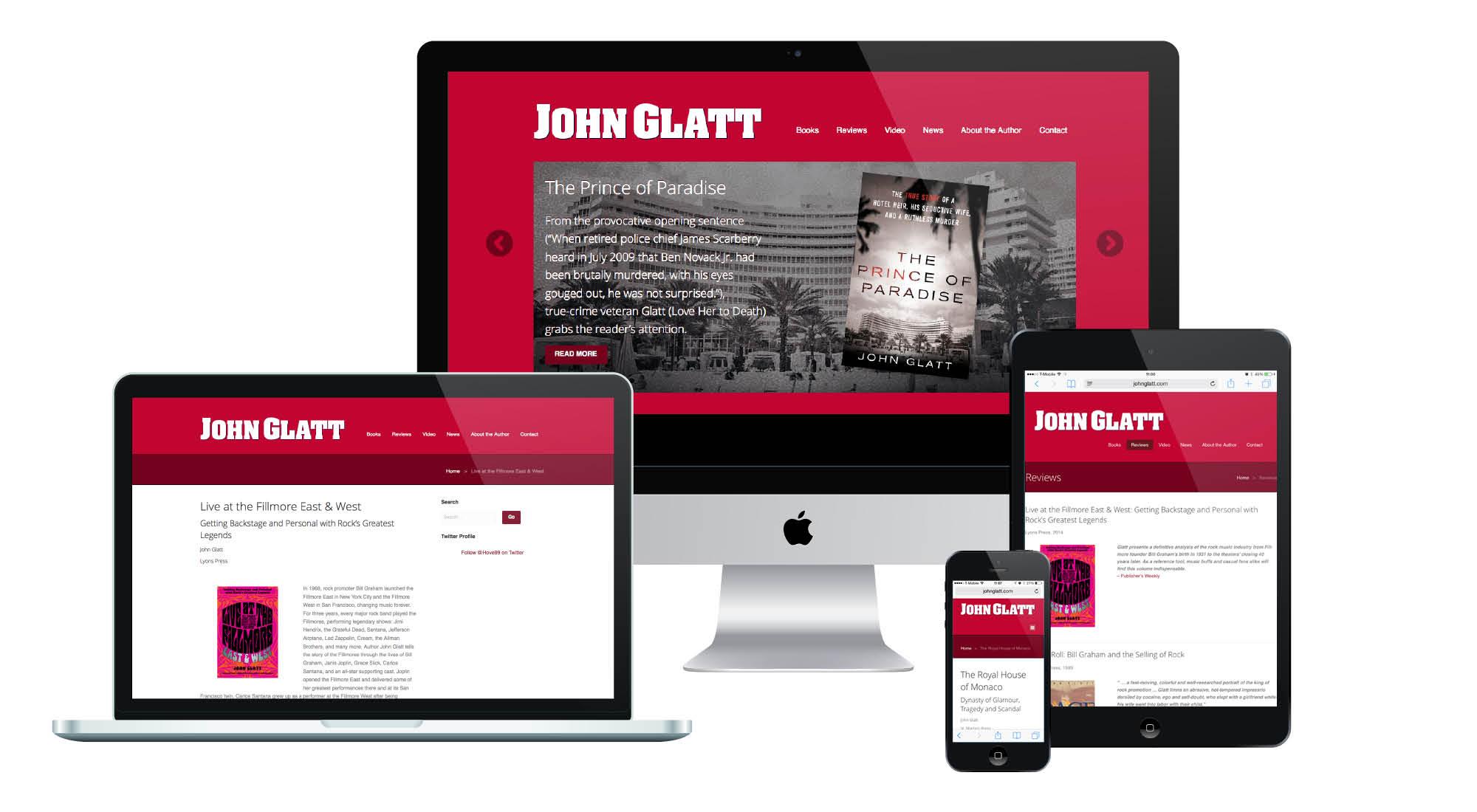 John Glatt Responsive Website