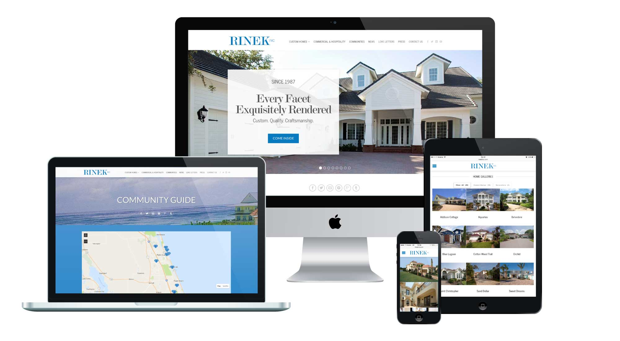 Rinek Inc. Website