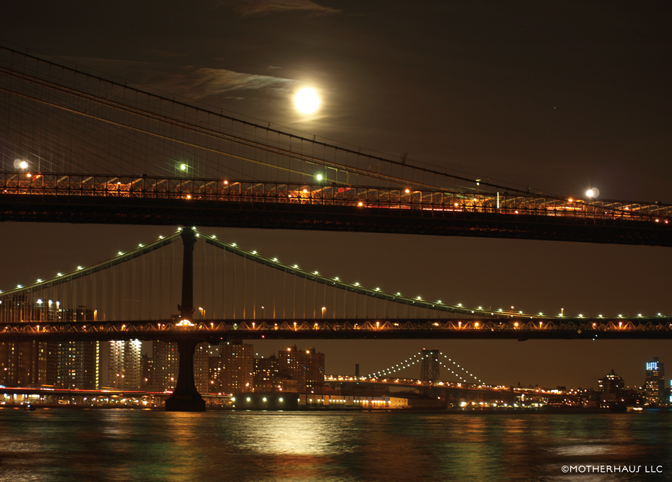 New York Bridges at night. ©Motherhaus LLC