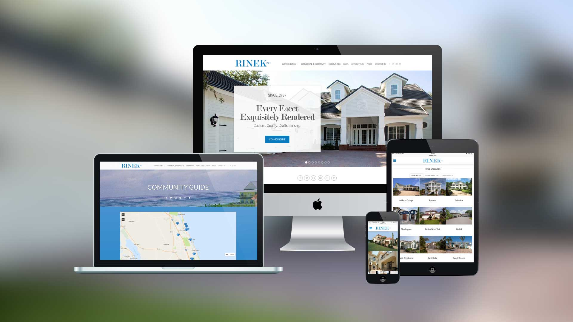 New Branding And Website For Luxury Home Builder